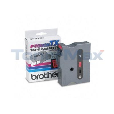BROTHER P-TOUCH TAPE BLACK/RED (1/2 X 50)
